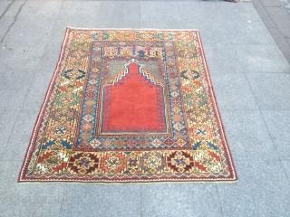 Antique Anatolian Mucur Carpet perfect Size 160x120