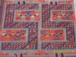 Antıque Caucasıan Zile Verneh size: 300x117 cm.