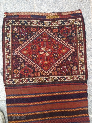 Antique Qashqai Bagface very nice piece Great Colors Size 50x58