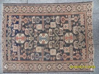 Antique Caucasian Şirvan Perepedil size: 120x90 cm.