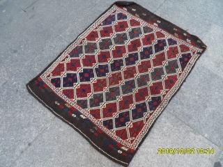 Antıque Anatolian Bergama cuval size: 102x75 cm.