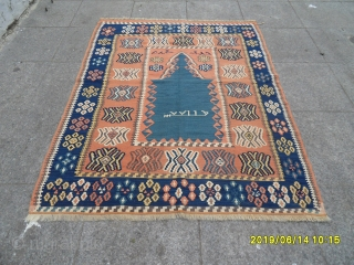 Antique Anatolian Erzurum Kilim size: 140x110