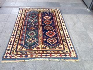 Antique Anatolian Mehri Carpet Size 190x135