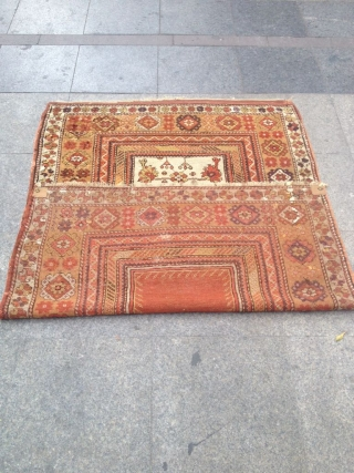 Antique Anatolian Milas Carpet Size 162x115