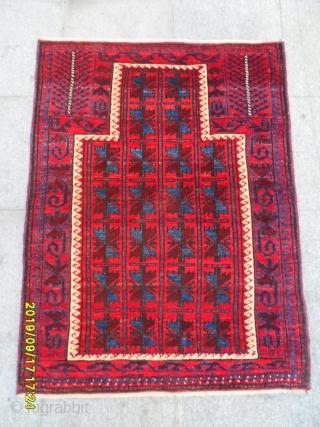 Antique Türkmen Belüç carpet size 115x90 cm.