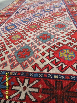 Antıque Caucasian Şirvan Carpet size: 145x85 cm.