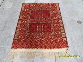 Antique türkmen ensi prayer carpet  size: 145x120 cm.