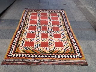Antique Qashqai Kelim Shiraz Size 245-150