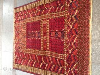 Antique Türkmen Prayer Ensi Carpet perfect Size 140-120