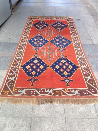Antique Avvar Kilim perfect Size 305-145
