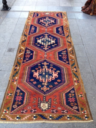 Antique Persian Runner Carpet Size 330-115