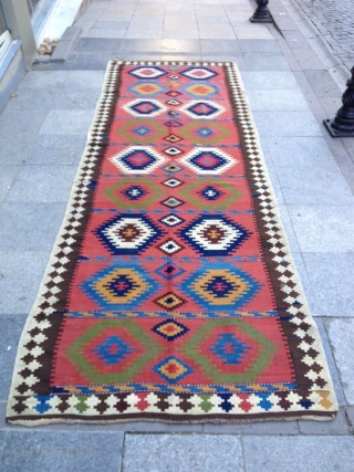 Antique Persian Kilim Great condition and colors Size 355-122