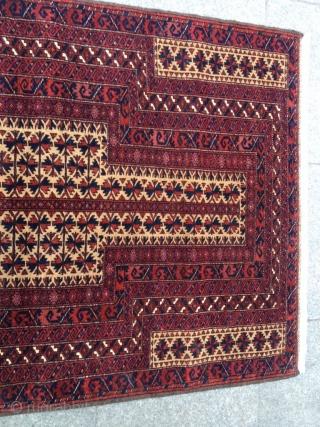 Antique Türkmen Prayer Belüç Carpet Size 135-88