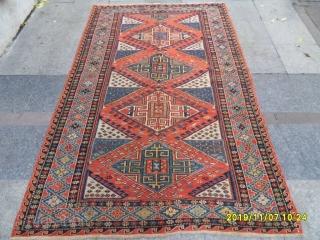 Antique Caucasian Soumak Nice Piece size: 235x146 cm.