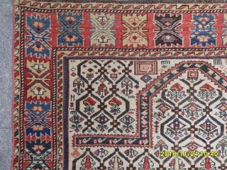 Antique Caucasian Shirvan Prayer Marashali Carpet size: 150x120