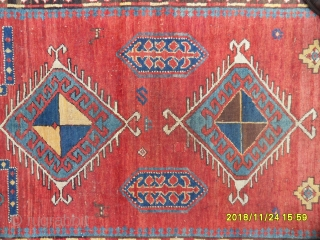 Antique Caucasian Fahrola Kazak size: 205x140