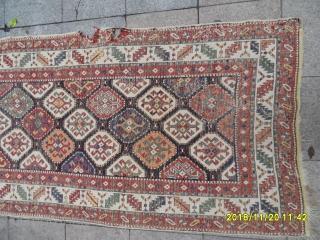 Antique Caucasian Gence Carpet size: 300x115