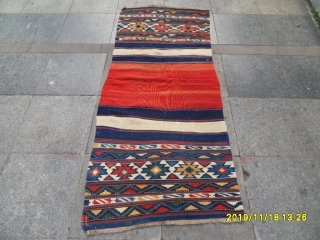 Antique Caucasian Kilim size: 175x75 cm.