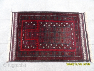 Antique Türkmen Baluch Prayer Carpet size: 122x85 cm.