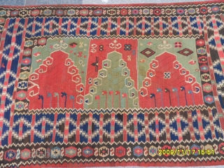 Antıque Anatolian Erzurum Saf Prayer Kilim size: 200x130