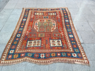 Antique Caucasia Kazak Karacoff Size 208x162