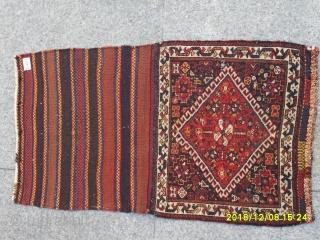 Antique Şiraz Qashqai Bagface all natural colors original piece size:50x58