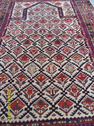 Antique Caucasian Şirvan Maraşali Prayer Carpet size. 150x115 cm.