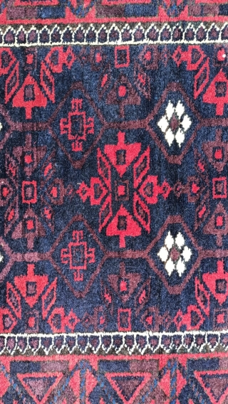 Antıque Türkmen Bauch Carpet size: 150x85 cm.