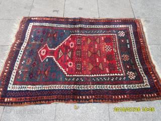 Antique Anatolian Kurdish Prayer Carpet size: 134x102