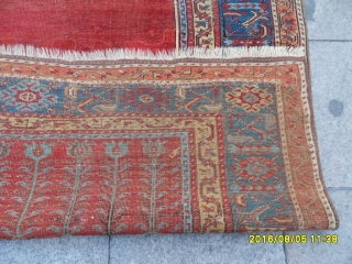Antique Anatolian Ladik Prayer Carpet size: 193x126