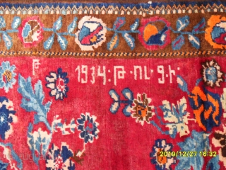 Antique Armenian Karabağ Carpet size: 215x135