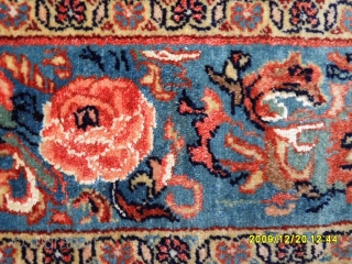 Antıque Persian Senneh Carpet with Silk and Flower's Dizayn Perfect size: 220x150 cm.