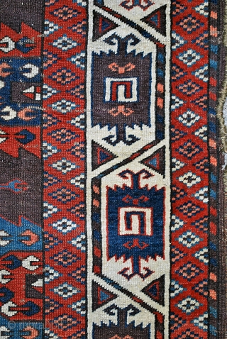 "Antique Yomut Turkmen, around 1800 or earlier, ""C"" Gul pattern, 176 x 288 cm. evenly low with few worn areas, untouched, no repairs! Interesting price."