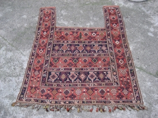 Caucasian Sumak Horse Cover, Shirvan area, possibly Marasali, circa 1880. Mint condition. All natural colours.