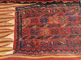 Luri double khorjin, pile weave with sumakh and kilim. Excellent colors, deep yellow, best wool and full pile. Seams undone; the bridge has not been removed as in so many younger examples,  ...