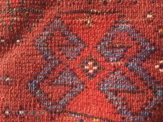 Kordi Kurdish rug from Quchan. 7,15 x 4,56 ft (218 x 139 cm). Best colors and wool. Classic Hauzi (watertank) design from the Bojnurd region. Around 1880. See Stanzer (Kordi) on dating  ...