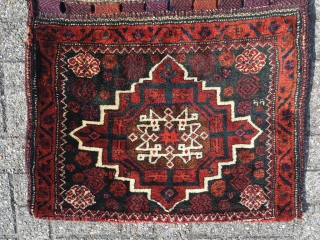 Baluch Afshar double khorjin in mint condition. Size 50.39 x 30.71 inch (128 x 78 cm). Fat meaty pile. Original closure system, sides and back intact.