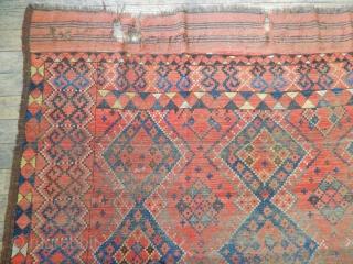 Antique Turkmen Ersari Main Rug