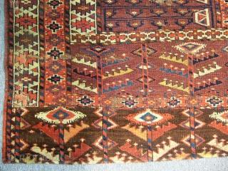 Antique Turkmen Yamut Ensi Rug