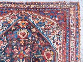 Antique Qashqaii Qamse Rug