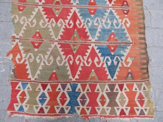 Antique Central Anatolian Kilim Fragment