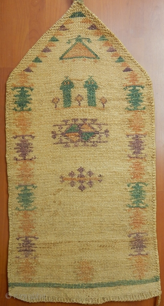 Antique Anatolian Wicker Kilim  Size.120x60cm