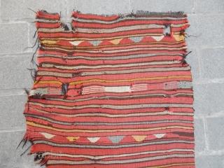 Antique Anatolian Mut Kilim Fragment  size.165x80cm