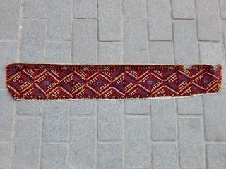 Antique Tekke Rug Elem size.21x134cm