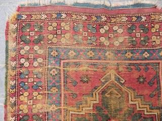 Antique West Anatolian Manastır Prayer Rug size.170x106 cm