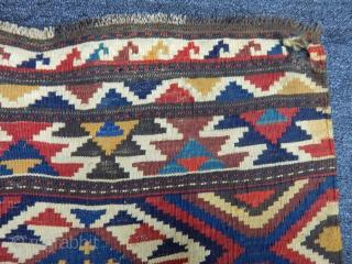 Antique Caucasian Zakatalı Kilim Bagfaces