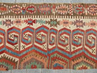 Antique Anatolian Konya Kilim Part