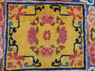 Antique Chinese rug bag Face