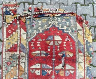 Antique Anatolian Konya Village Rug