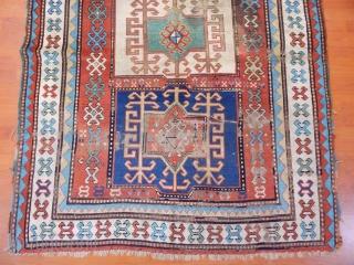 Antique Caucasian Fahrola Kazak Rug  Size.275x140cm